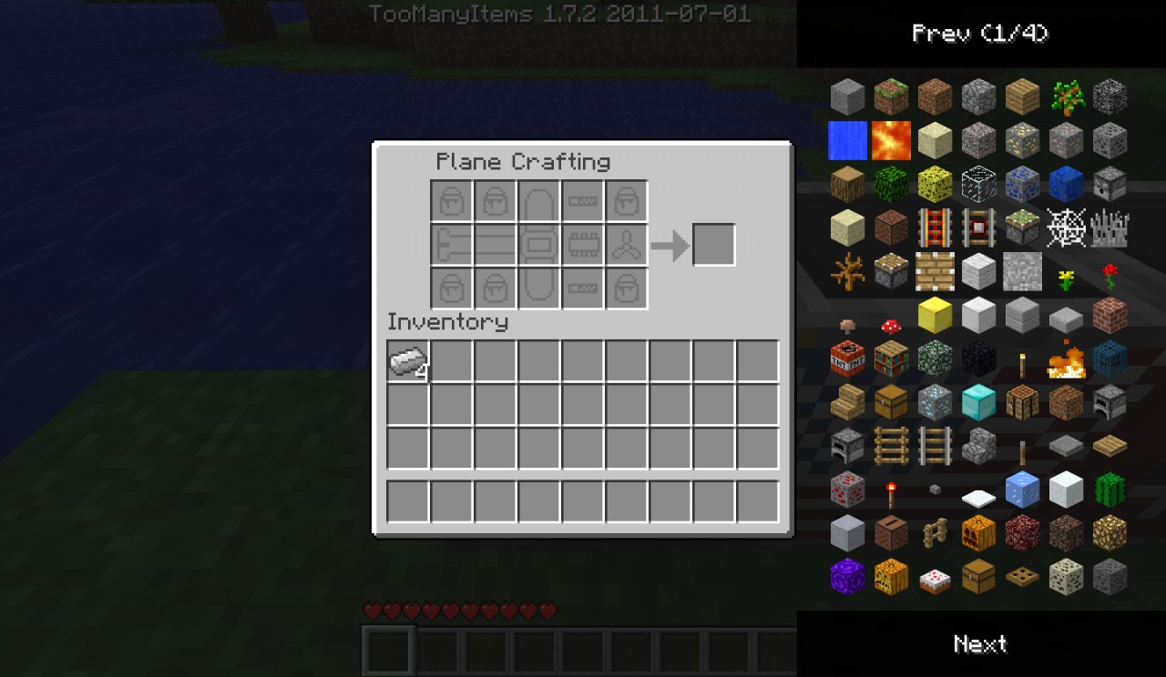 GUI Of Plane Crafting Table!