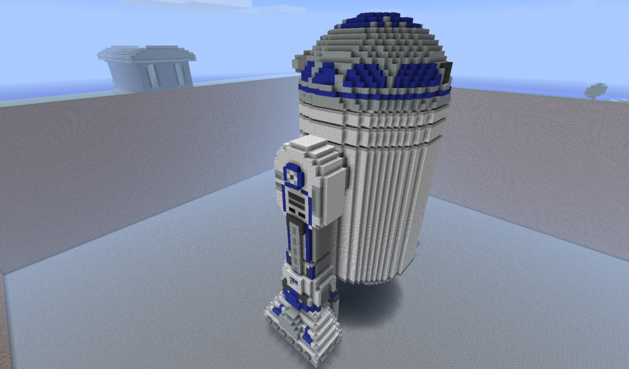 how to build r2d2 in minecraft