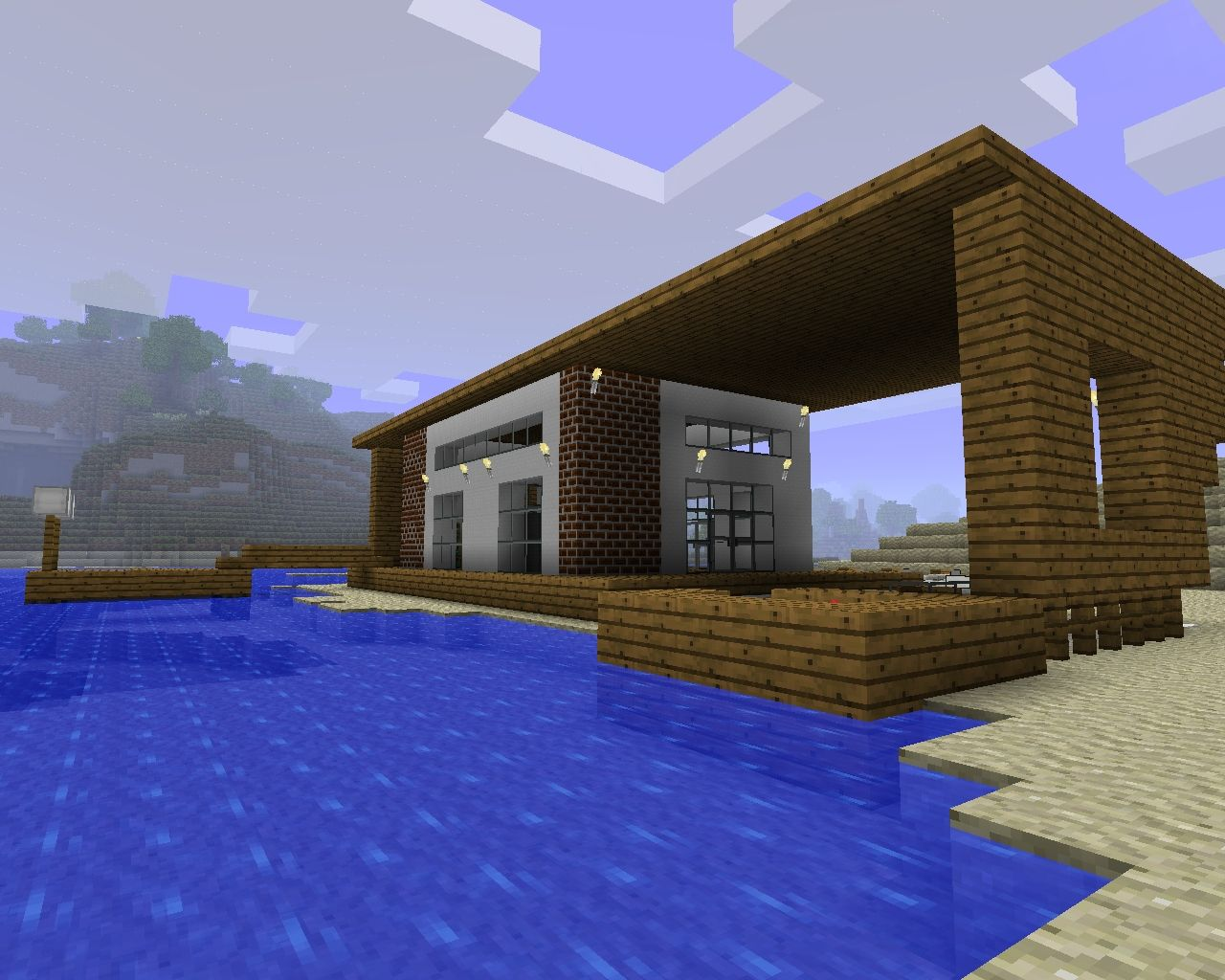 Modern house desingn minecraft project for Modern house projects