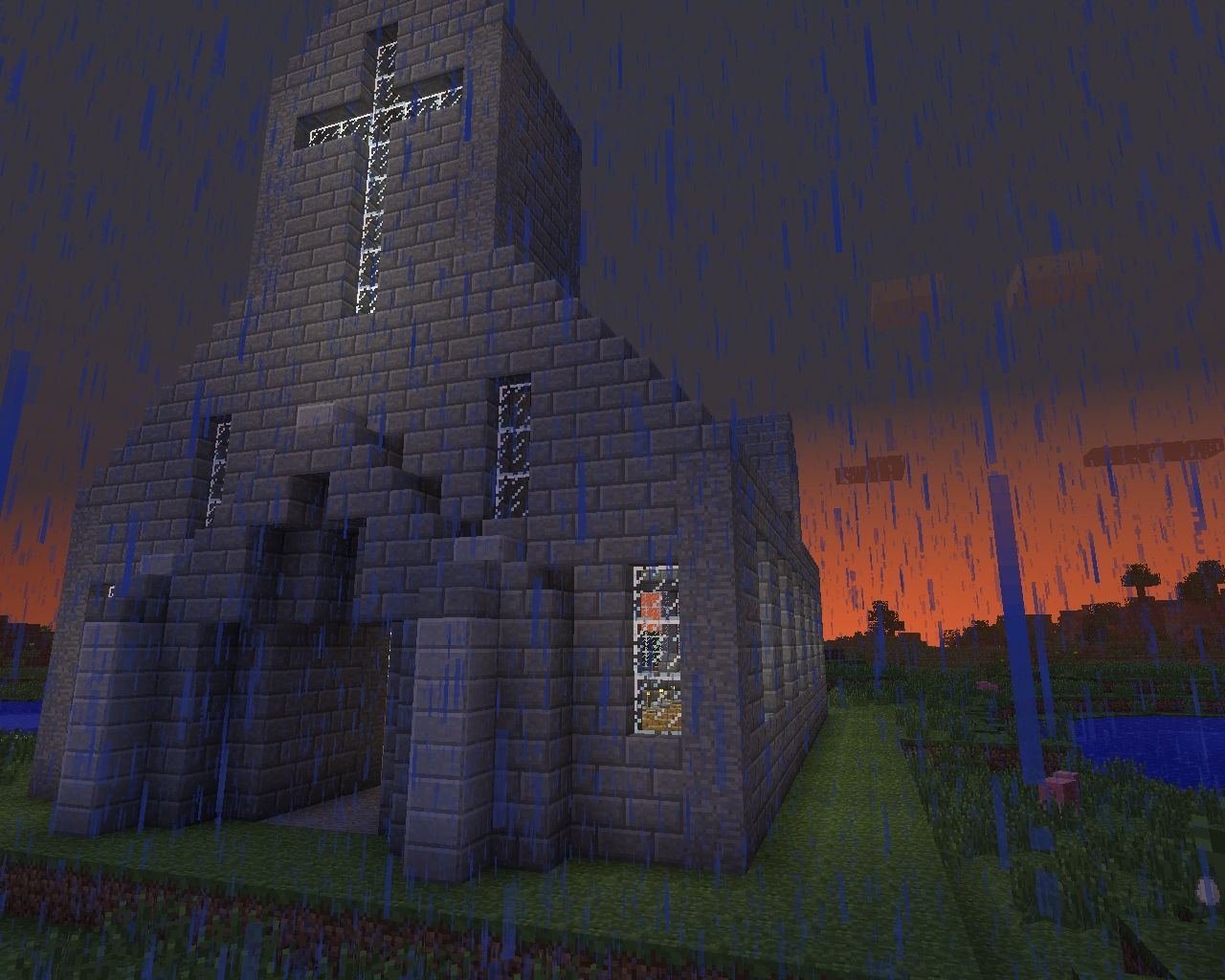 simple church with cry...