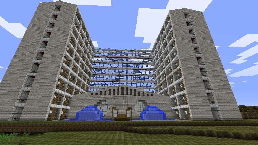 Ybgames modern hotel minecraft project for Modern hotel