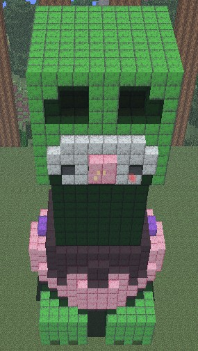 Baby Creeper Satue Minecraft Project