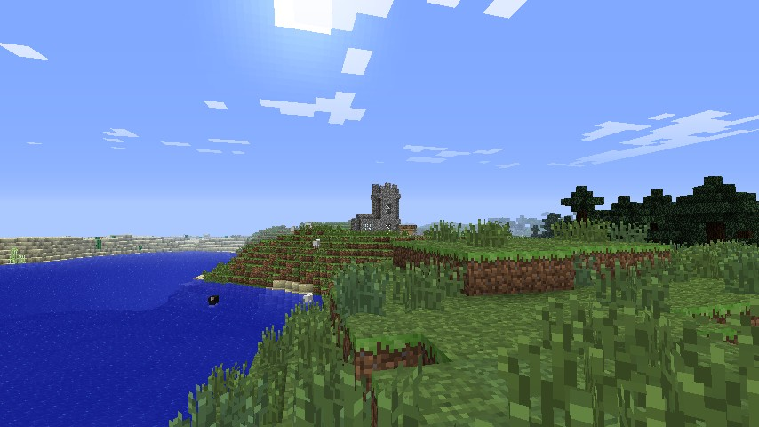 Village as seen from spawn