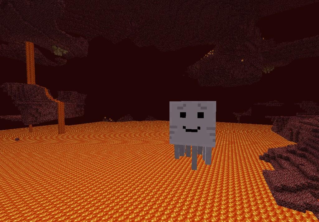 Minecraft Ghast Girl Happy