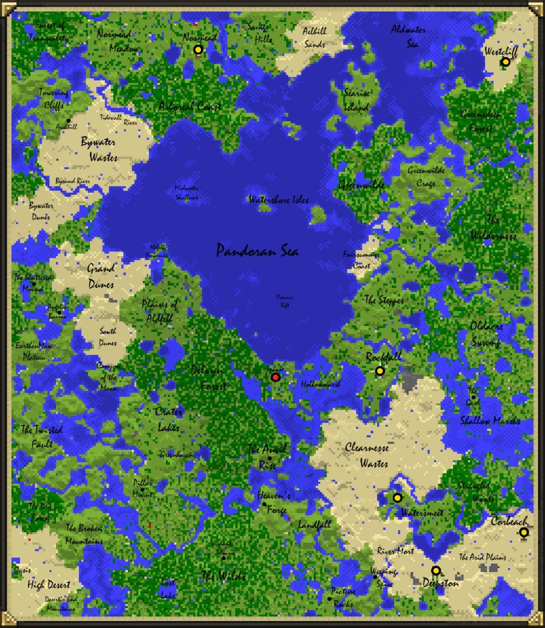Avatar 2 Travel To Pandora: Pandora's Box. (Awesome World Seed + Detailed Map
