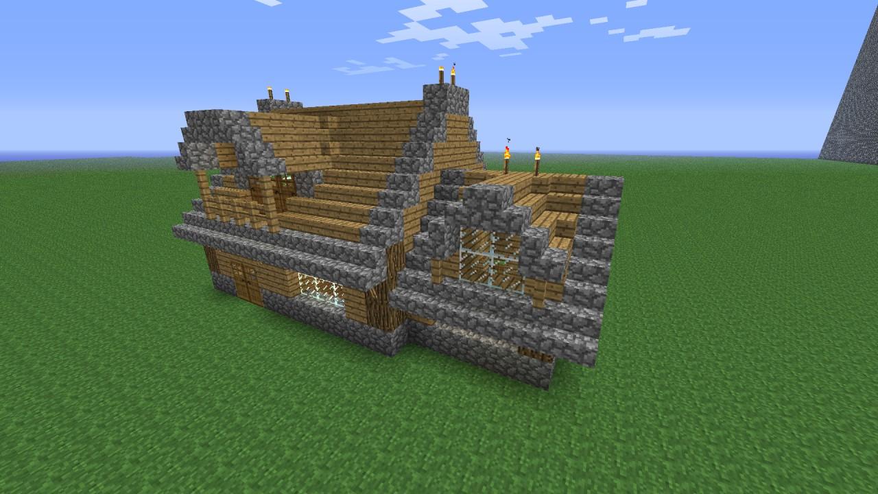 Simple manor minecraft project - Comment faire un chalet dans minecraft ...