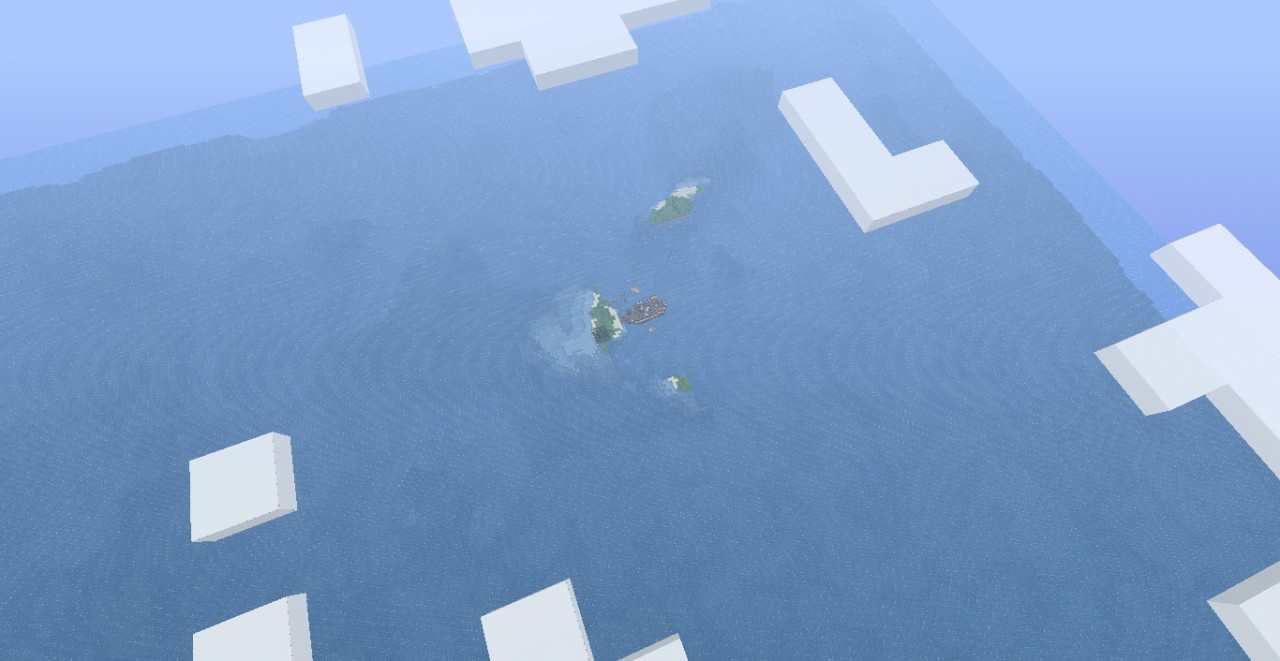 A screenshot from high in the clouds. Good map, plenty of ocean. :)