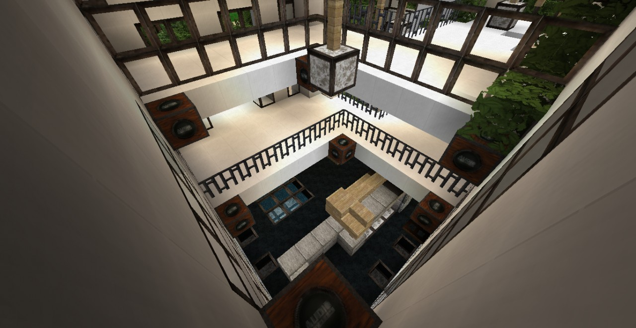 modern house with mega texture project rustic pack Minecraft Project - ^
