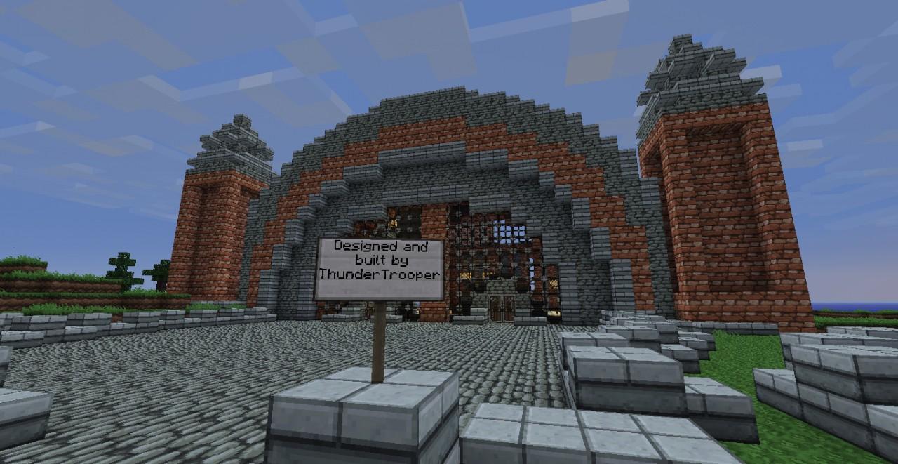 Brick Train Station Minecraft Project