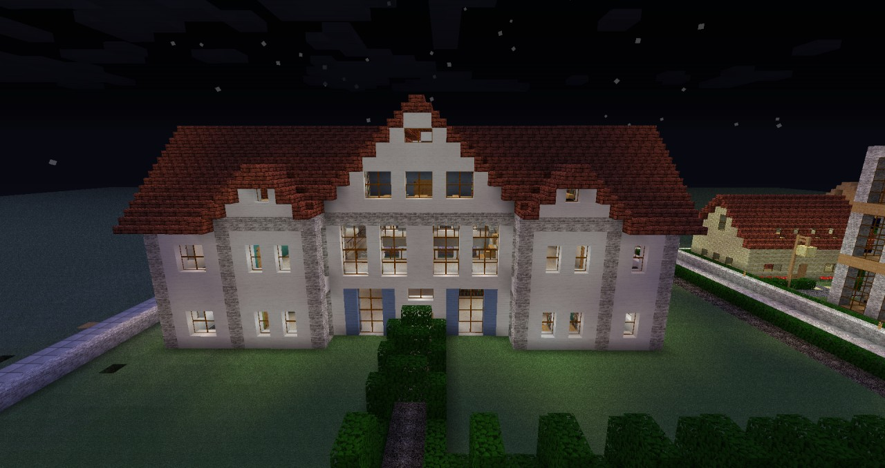 White villa minecraft project - Minecraft villa ...