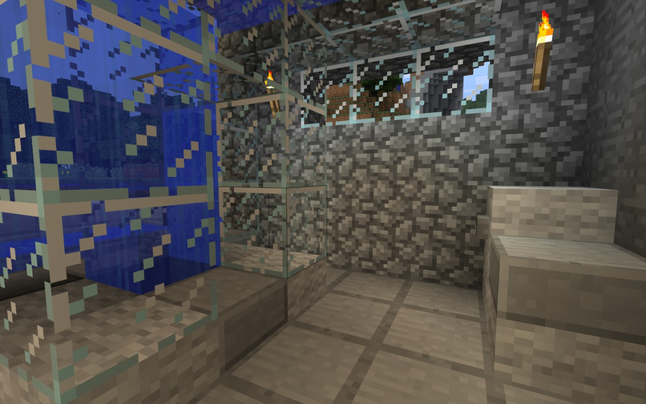 Modern mountain home minecraft project - Mountain house projects ...