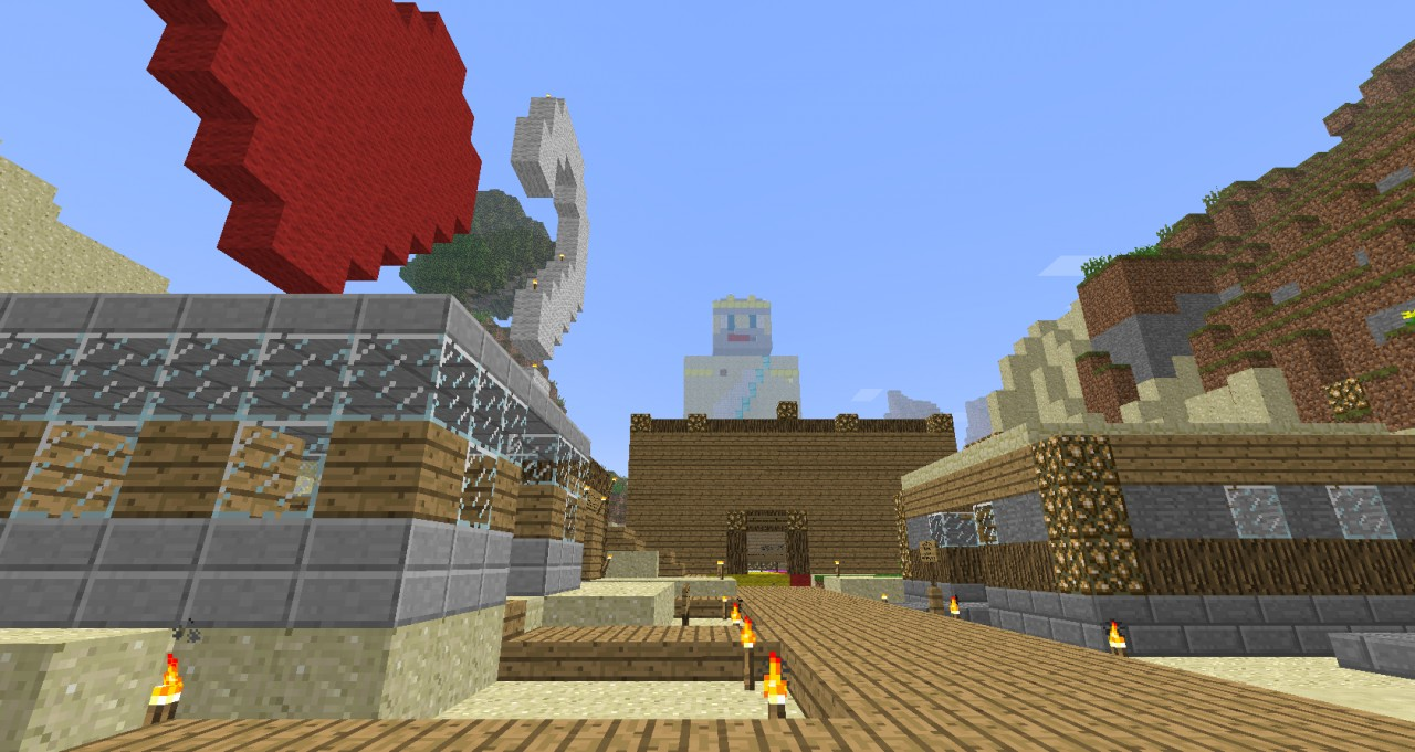 Our awesome Spawn town