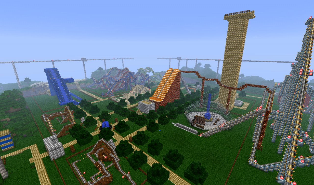 Theme Park Aerial View