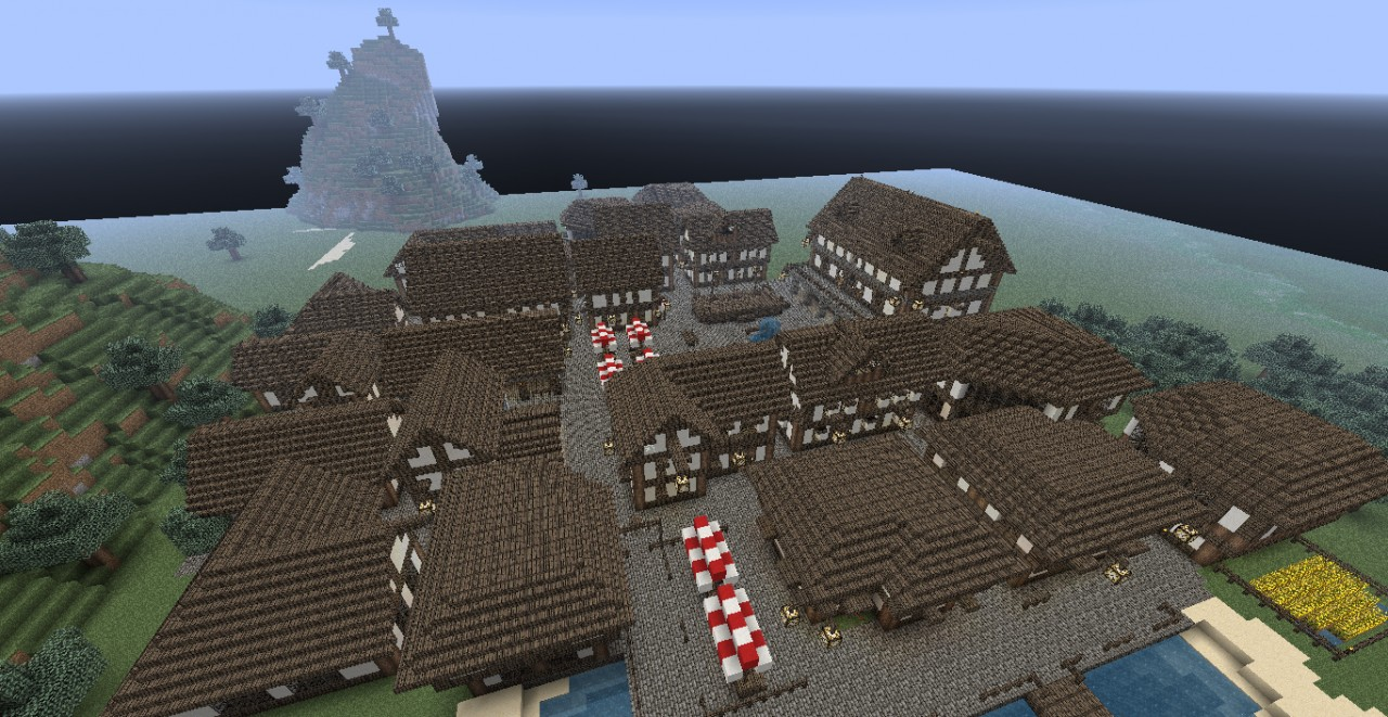 Huge Medieval Town Minecraft Project