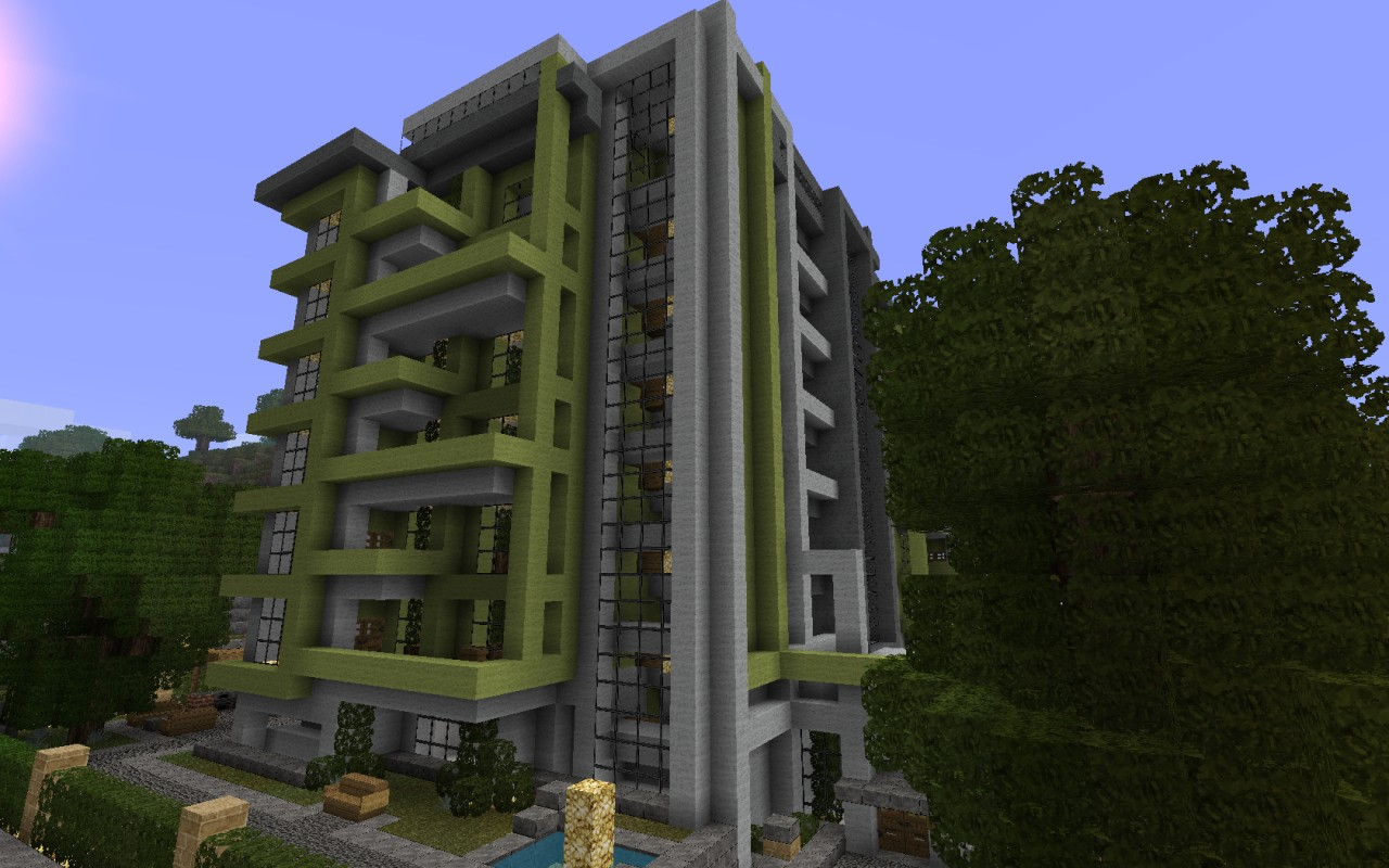 Modern Apartments Beach Town Project Minecraft Project - Minecraft modern apartment building