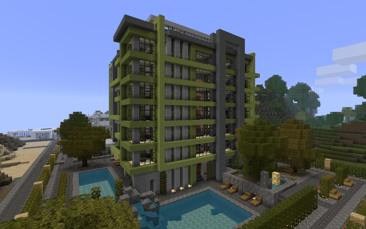 Minecraft Apartment Building Download Related Keywords - Minecraft modern apartment building