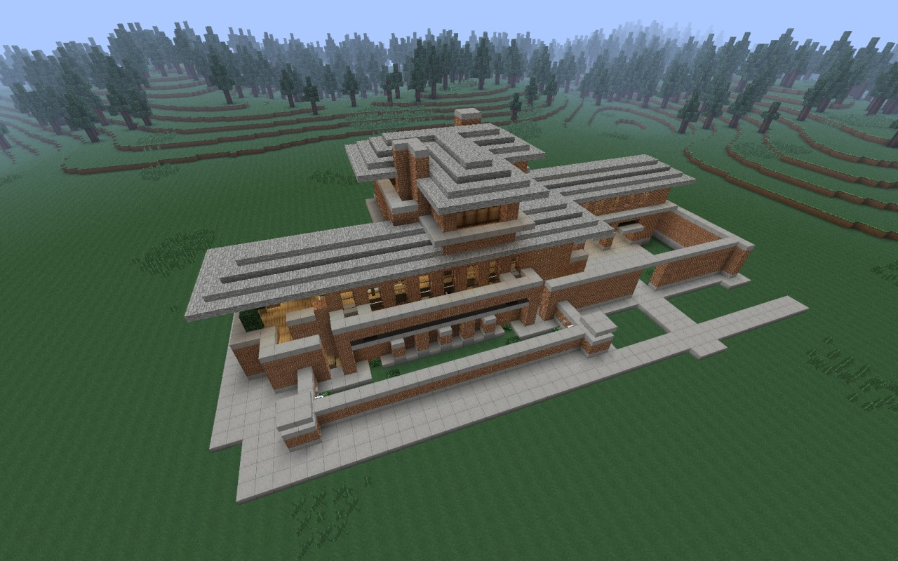 The Robie House Frank Lloyd Wright Recreation Minecraft Project