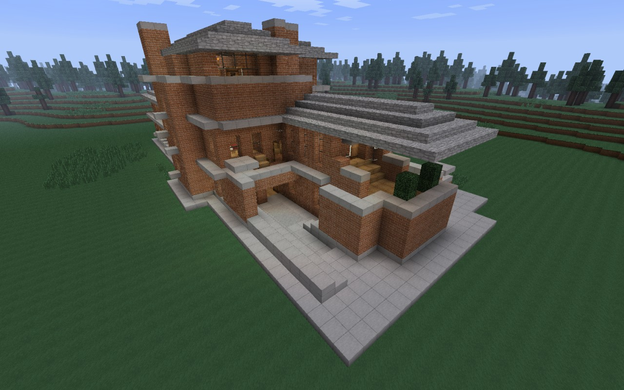 The Robie House Frank Lloyd Wright Recreation Minecraft
