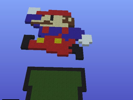 Mario Jumping Out Of Pipe Minecraft Project