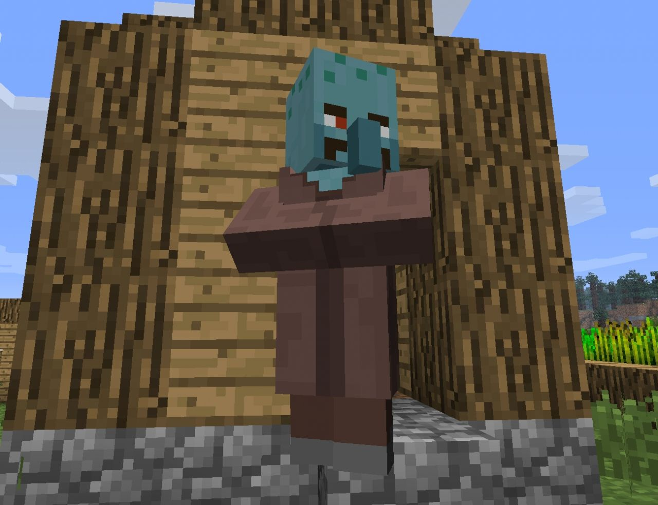 Squidward Villagers Minecraft Texture Pack
