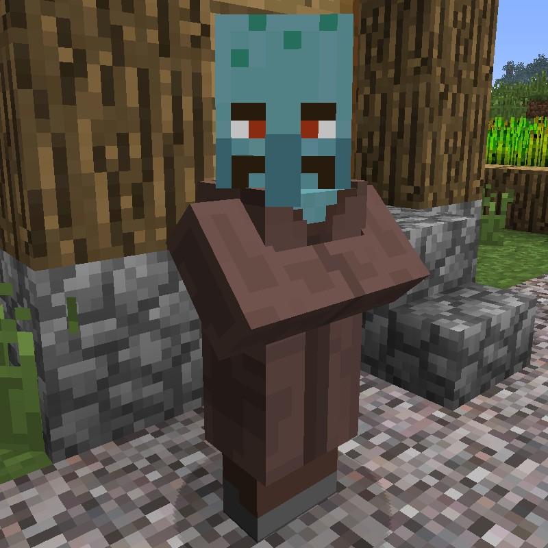 Squidward Villagers Minecraft Texture Pack