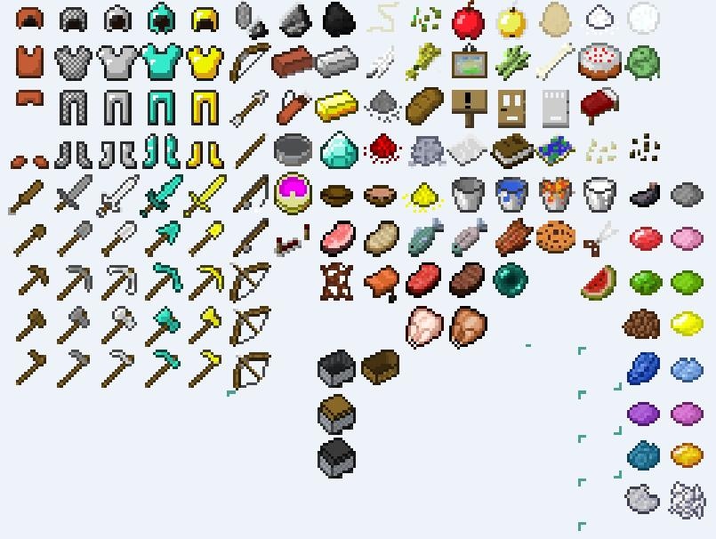 Image Gallery Minecraft Items