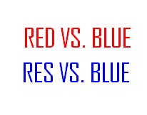 Red vs. Blue Minecraft Map & Project