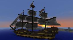 HMS Destiny, a 34 gun Frigate with complete interior. Minecraft Map & Project