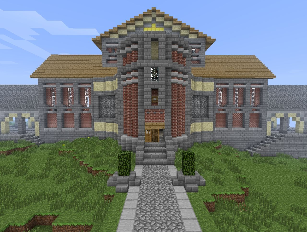 Cool Modern Buildings In Minecraft First Modern Building
