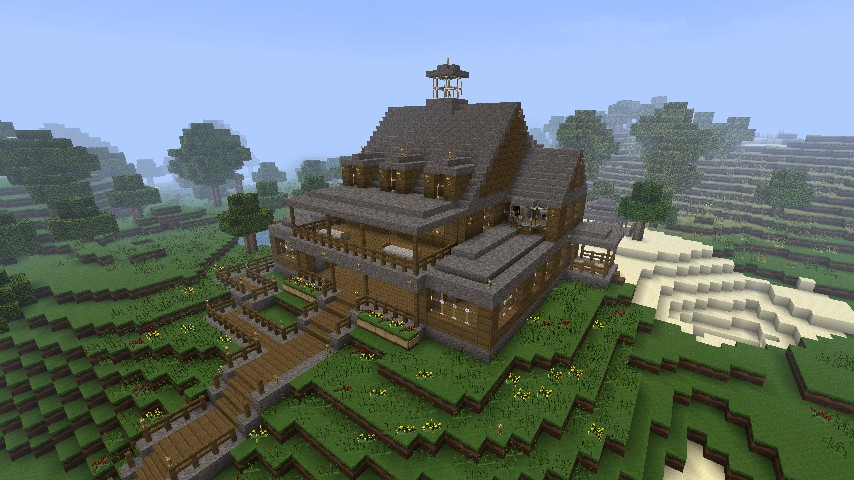 Realistic Lake House 2.0 Minecraft Project