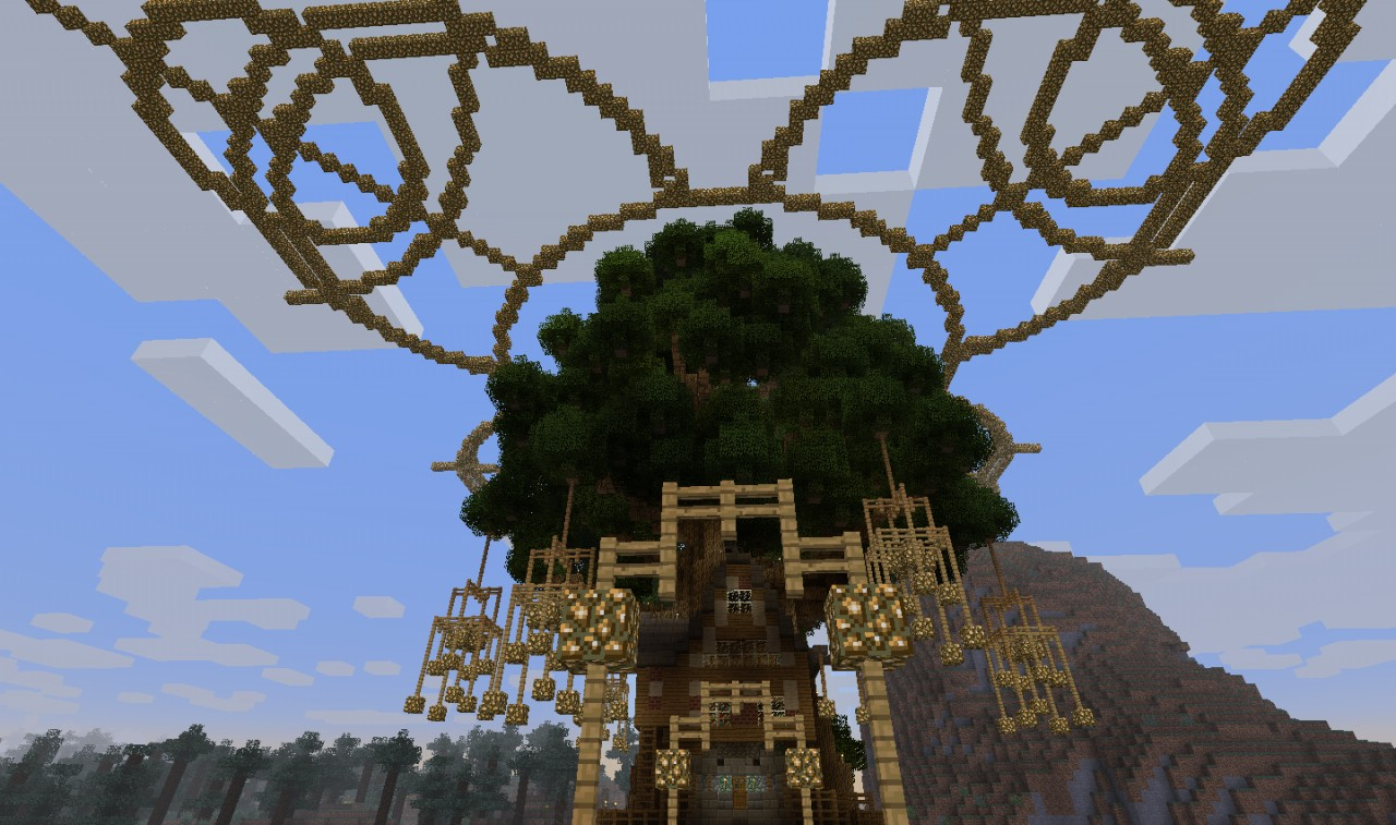 Lovely House Set In A Tree Minecraft Project