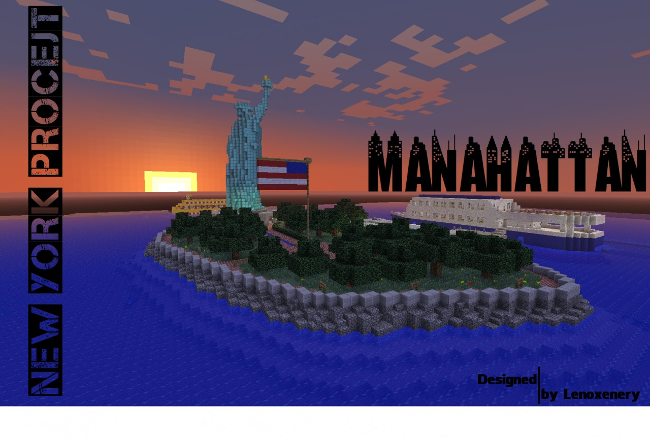 Manhattan New York City Minecraft Project - New york map in minecraft