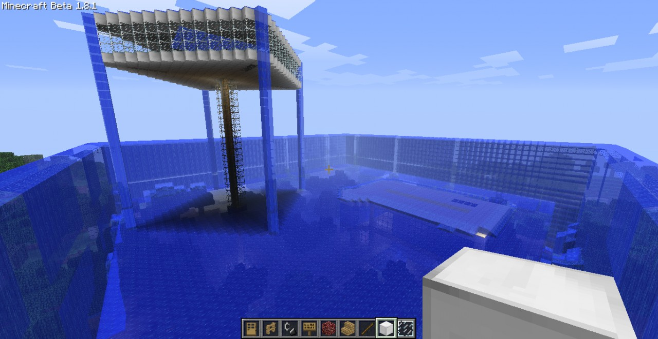 Modern House Underwater With Some Cr4zyyyy Secrets Minecraft Project