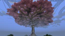 Gardens of the Dawn. (Beefed-up version) draft of the tree Minecraft Map & Project