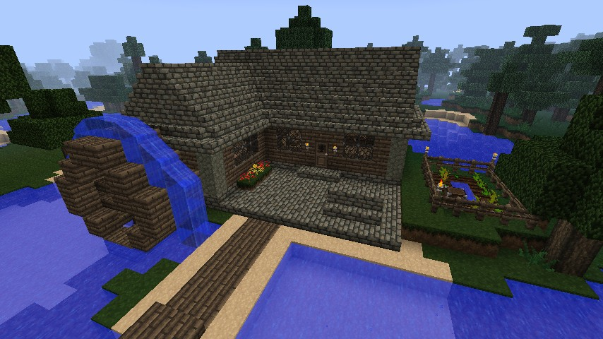 Water Mill House Minecraft Project