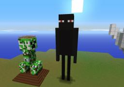 Statue of Enderman (Updated) Minecraft Project