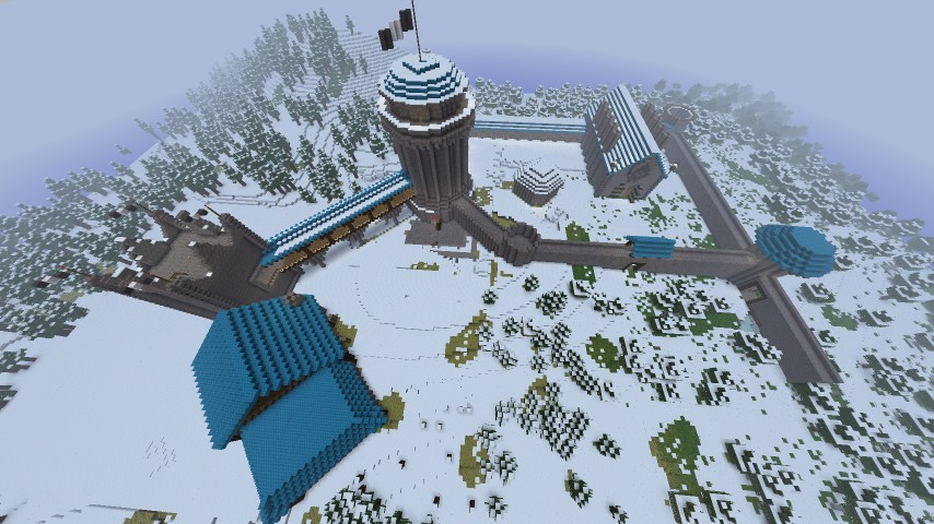 overhead view...less than half done with winterfell