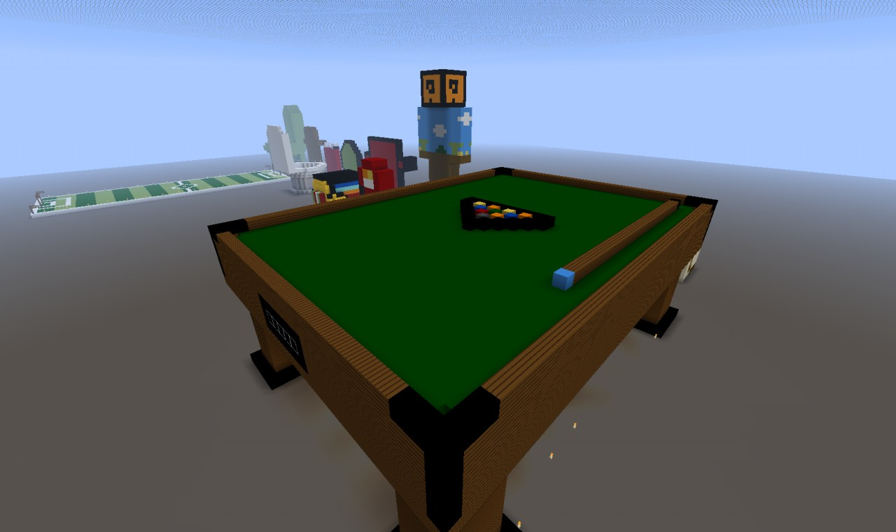 Giant billiard table minecraft project for 10 pool table