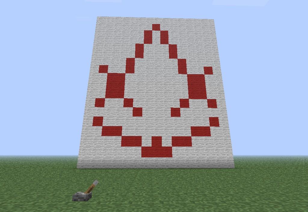 Assassins Creed Symbol Using Piston Minecraft Project