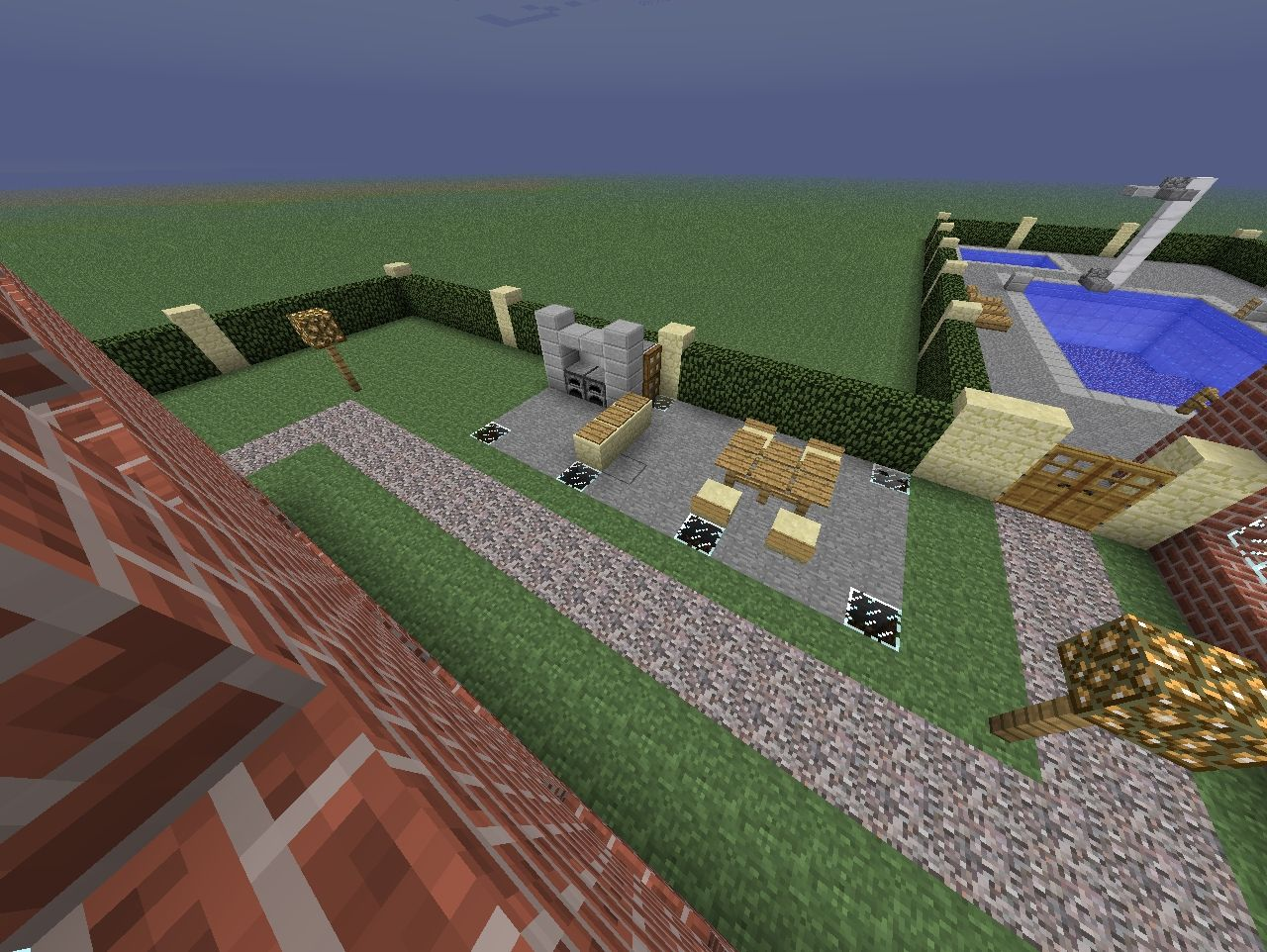 Mansion With Furnitures Minecraft Project