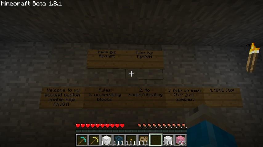Custom Zombie Map: Bunker der Toten Minecraft Project