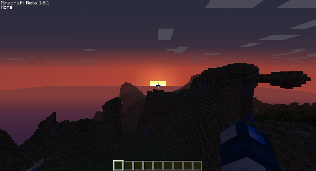 Sunset across the Mountains