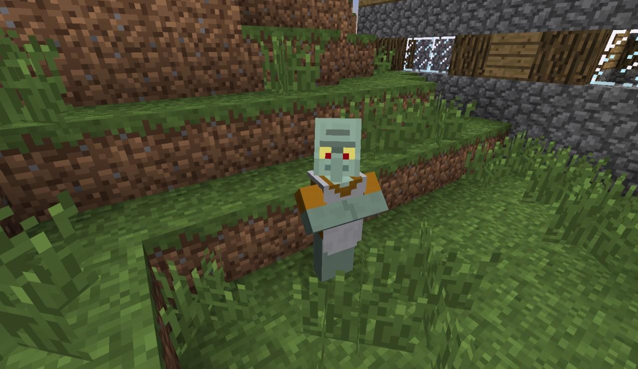 Minecraft Real Life Villager Minecraft villager in real