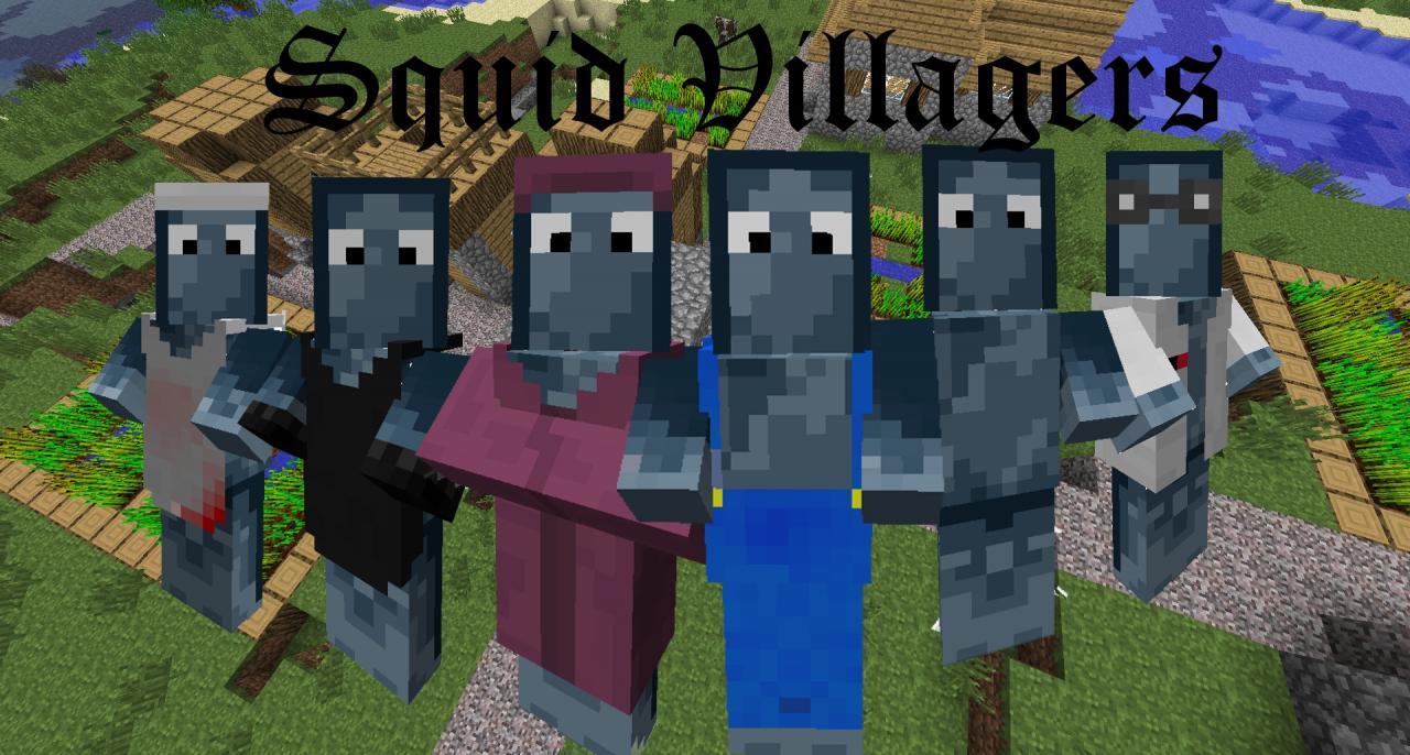 Squid Villagers Minecraft Texture Pack