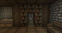 Hidden Passage Behind Wall/Bookshelf Minecraft Map & Project