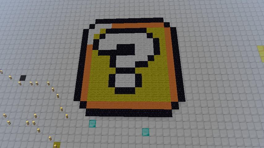Block From Mario Pixel Art