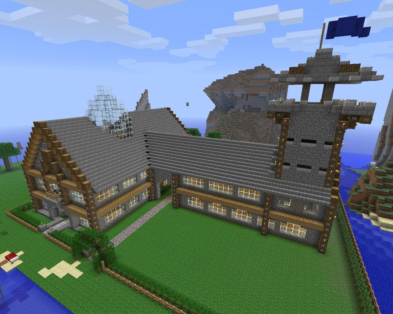 Большой красивый дом в майнкрафте карта