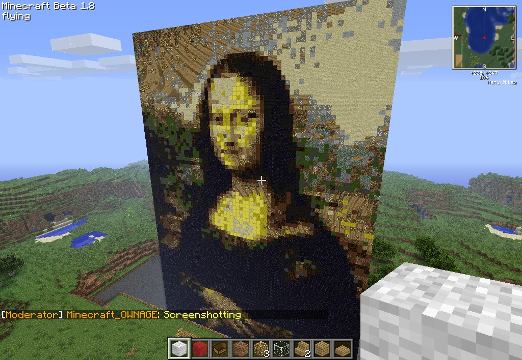 Mona Lisa Minecraft Project