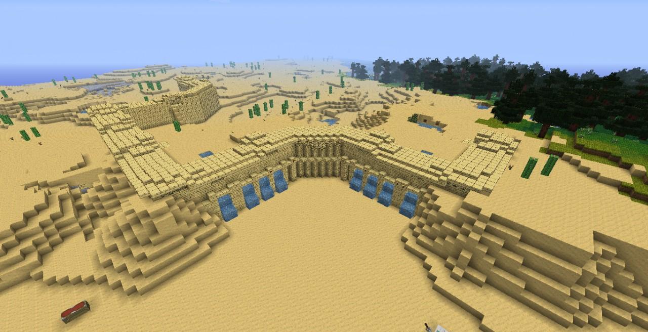 Sandstone Wall Minecraft