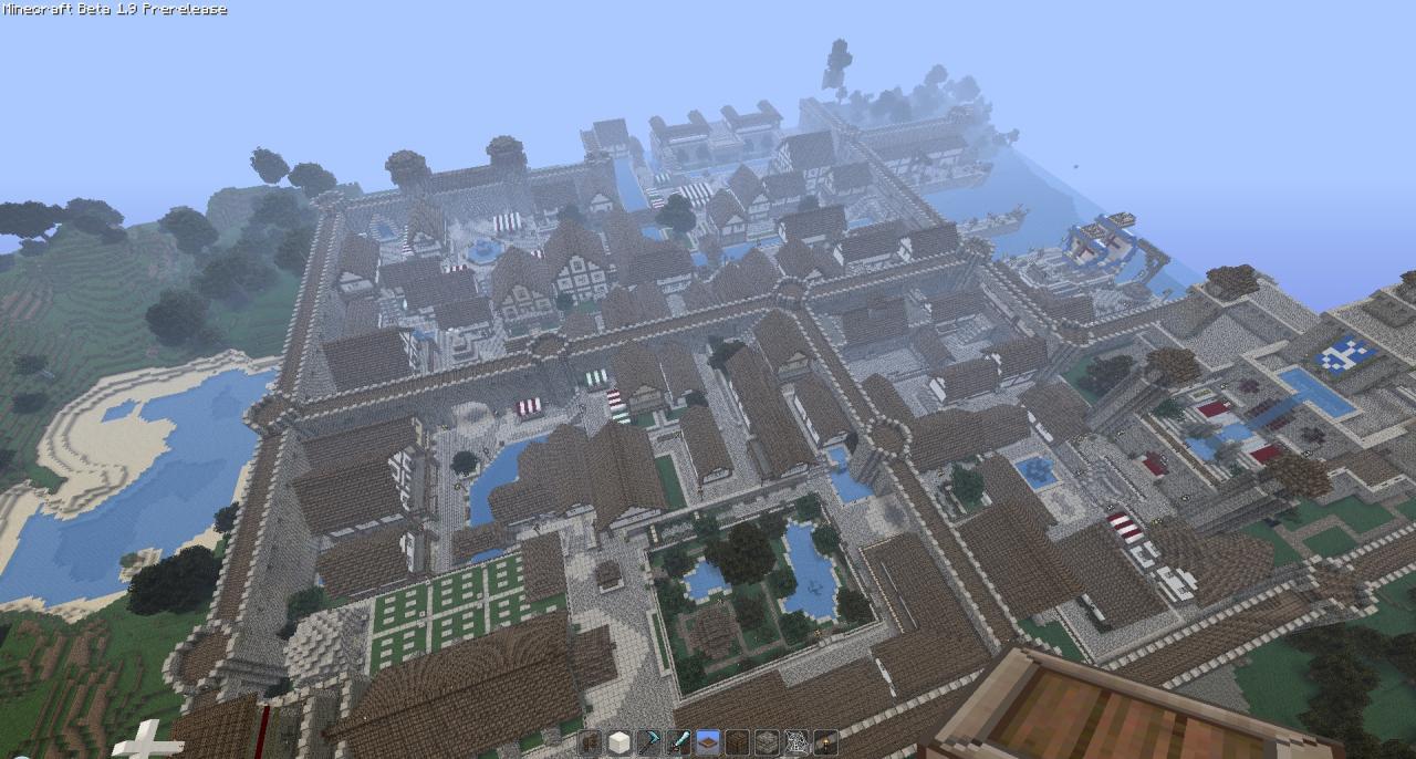 скачать карту города в майнкрафт 1.6.4